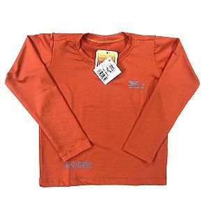 Camiseta Infantil Proteção Solar UPF 50+ Laranja