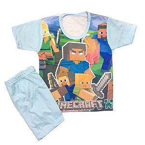 Pijama Infantil MINECRAFT AZUL