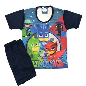 Pijama Infantil PJ MASKS TURMA AZUL