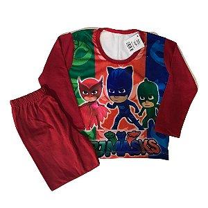 Pijama Infantil PJ MASKS VERMELHO