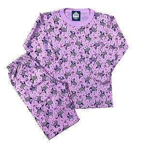 Pijama Infantil 100% Algodão Manga Longa ZEBRINHAS