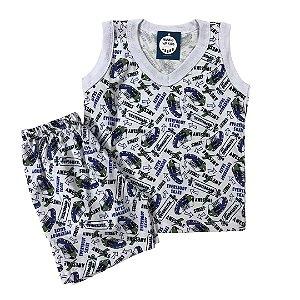 Pijama Infantil 100% Algodão Regata SKATE STREET