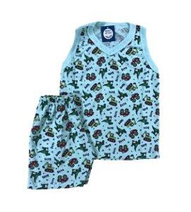 Pijama Infantil 100% Algodão Regata TOYS BOYS