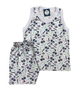 Pijama Infantil 100% Algodão Regata MAKE WAVES