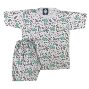 Pijama Infantil 100% Algodão Maga Curta UNICÓRNIOS