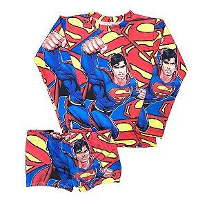 Cjto Infantil Proteção Solar SUPERMAN