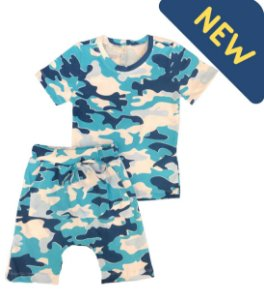 Pijama Infantil SARUEL CAMUFLADO AZUL