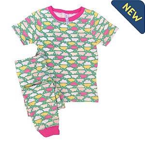 Pijama Infantil SLIM NUVENS COLOR