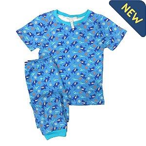 Pijama Infantil SLIM SHARK FUNDO MAR ROYAL