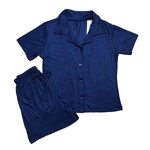Pijama Camisa Infantil MARINHO