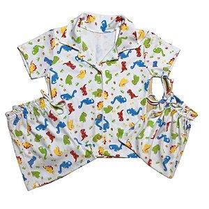 Pijama Camisa Mamãe DINOS COLOR