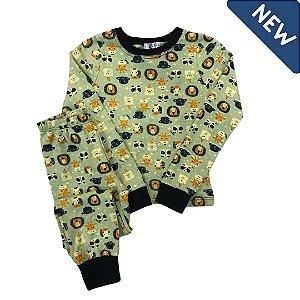 Pijama Infantil SLIM LEÕES VERDE
