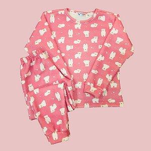 Pijama Infantil Soft Punho URSOS ROSA