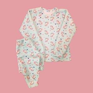 Pijama Infantil Soft Punho UNICÓRNIOS