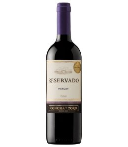 Vinho Chileno Reservado Concha Y Toro Merlot Tinto 750ml