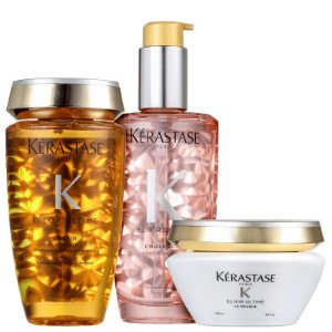 Kit Kérastase Elixir Ultime Masque Rose (3 Produtos)