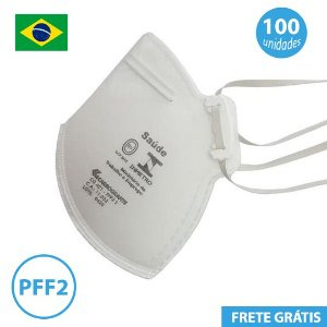 Mascara PFF2 Equivalente a N95 pacote com 100 unidades