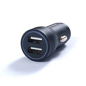 Carregador veicular com 2 entradas USB de carregamento rápido - RESISTENTE!