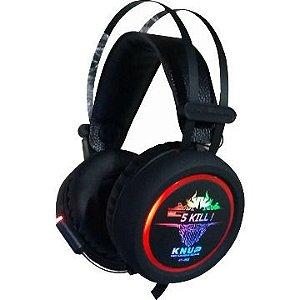 Headset gamer com microfone Knup KP-401