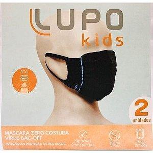 Mascara Infantil Lupo Kids Dupla Camada Kit 2 - PRETA