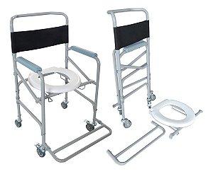 Cadeira De Rodas Banho Dobrável Em Aço Desmontável Dellamed