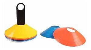 Mini Cones De Agilidade Cones Treinamento Funcional 20 Und