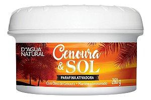 Parafina Bronzeadora Cenoura E Sol D Agua Natural 260g