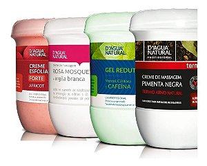 Pimenta Negra + Gel Redutor + Esfoliante + Rosa Mosqueta