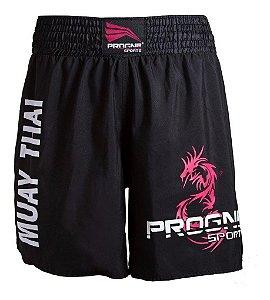 Short Muay Thai Bermuda Calção Luta Masculino Progne