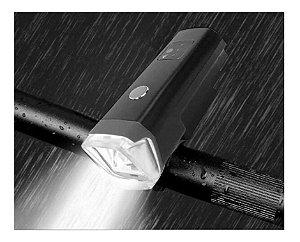 Farol Lanterna Bike Com Sensor Noturno Recarregável Jws