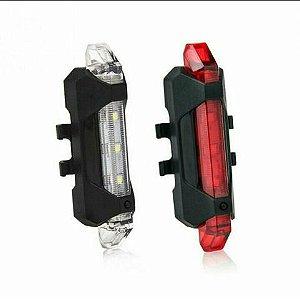 Lanterna sinalizadora de bike  recarregável USB