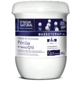CREME MASSAGEM PEROLAS Q10 650G - D AGUA NATURAL