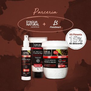 Creme Pimenta Negra 650g + Gel Pimenta Negra + Fluido Pimenta Negra D Agua Natural