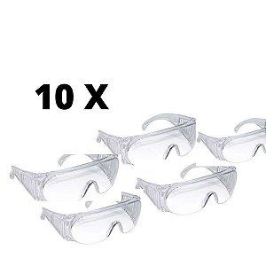 Kit 10x OCULOS PROTEÇÃO MEDICINAL
