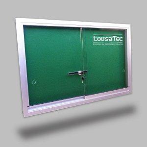 Quadro Edital de Aviso com Vidro de Correr - Feltro Verde