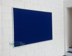 Quadro Edital de Aviso Simples - Feltro Azul