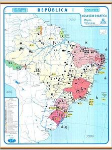 Mapa Brasil República