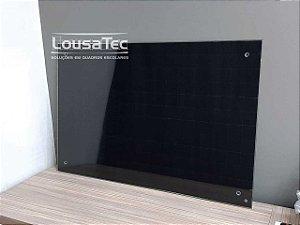 Quadro Preto Quadriculado de Vidro Temperado 5mm