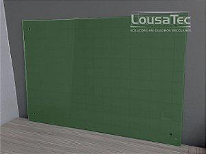 Quadro Verde Quadriculado de Vidro Temperado 5mm
