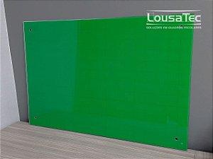 Quadro Verde Quadriculado de Vidro Temperado 6mm