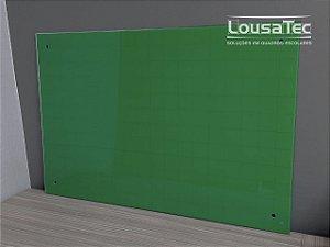 Quadro Verde Quadriculado de Vidro Temperado 8mm