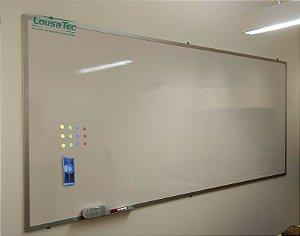 Quadro Branco Liso Magnético Imantado Metálico Reto - Lousa Melamínica Profissional
