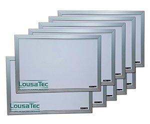 Kit Revenda Quadrinho Branco Liso com Moldura de Alumínio - 10 Unidades