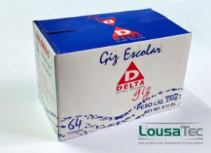 Giz Colorido c/ 64 Palitos DELTA