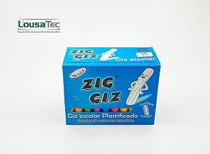 Giz Colorido Plastificado c/ 50 palitos Zig