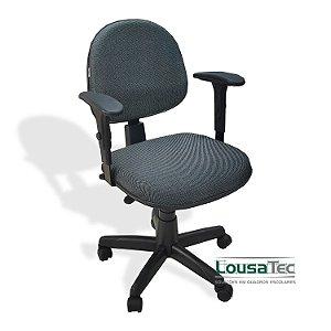 Cadeira Profissional p/ Escritório Back System - SF2450 - Espuma Injetada 50mm - Rodízios e Braços Reguláveis