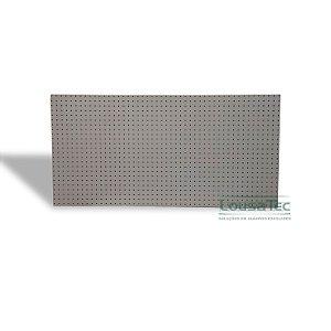 Painel Pegboard Cristal (Cinza Claro) - 60x60cm - C/ 06 Ganchos 10cm