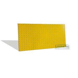 Painel Pegboard Amarelo - 120x60 - C/ 08 Ganchos 10cm