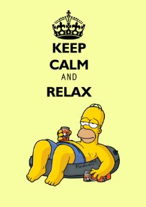 Quadro Decorativo Homer Simpson Relax - DS0001