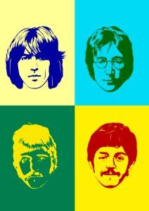 Quadro Decorativo The Beatles Colors - MS0001